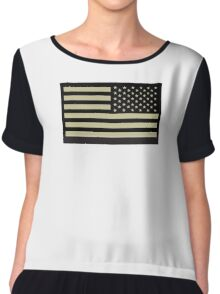 AMERICAN ARMY, Soldier, American Military, Arm Flag, US Military, IR, Infrared, USA, Flag Chiffon Top