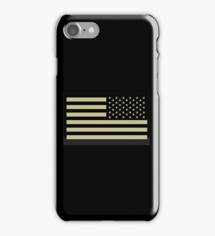 AMERICAN ARMY, Soldier, American Military, Arm Flag, US Military, IR, Infrared, USA, Flag iPhone Case/Skin