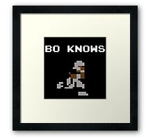 Bo Knows - Tecmo Bowl (NES) Framed Print