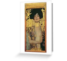 Gustav Klimt - Judith And The Head Of Holofernes 1901 Greeting Card