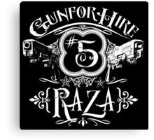 Raza Gun For Hire #5 Canvas Print