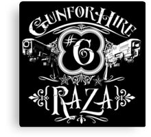 Raza Gun For Hire #6 Canvas Print