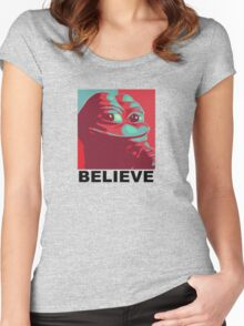 Pepe the Frog - Believe Women's Fitted Scoop T-Shirt
