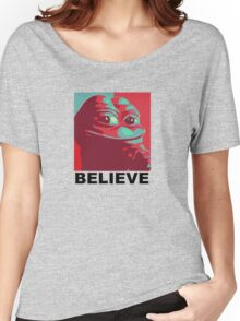 Pepe the Frog - Believe Women's Relaxed Fit T-Shirt