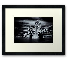 Two Towers, Five Rings Framed Print