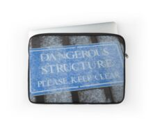 Dangerous Structure Please Keep Clear Laptop Sleeve