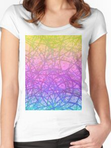 Grunge Art Abstract Women's Fitted Scoop T-Shirt