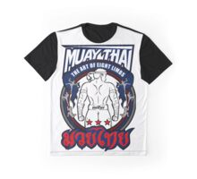 muay thai fighter strong back thailand martial art Graphic T-Shirt