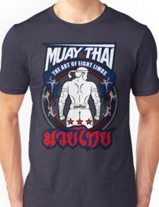 muay thai fighter strong back thailand martial art Unisex T-Shirt