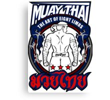 muay thai fighter strong back thailand martial art Canvas Print