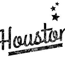 Distressed Retro Houston Logo by kwg2200
