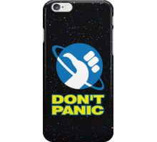 Hitchhiker's Guide To The Galaxy (Don't Panic) iPhone Case/Skin