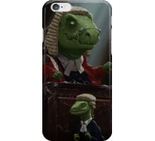 Dinosaur Judge in UK Court of Law iPhone Case/Skin