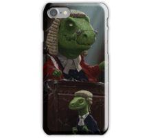 Dinosaur Judge in UK Court of Law iPhone Case/Skin