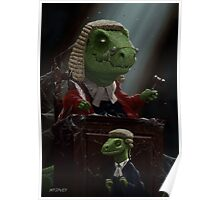Dinosaur Judge in UK Court of Law Poster