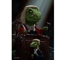 Dinosaur Judge in UK Court of Law Photographic Print