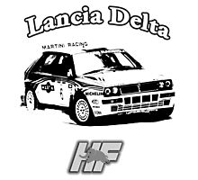 Lancia Delta Hf Photographic Print