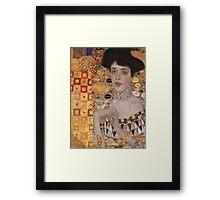 Gustav Klimt - Portrait Of Adele Bloch-Bauer, 1907 Detal 2 Framed Print