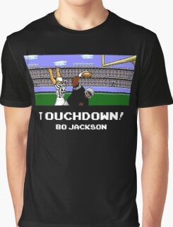 Touchdown! Bo Jackson - Tecmo Bowl (NES) Graphic T-Shirt