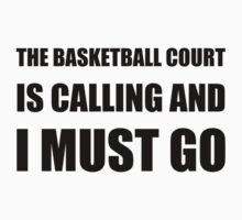 Basketball Court Calling Must Go One Piece - Long Sleeve
