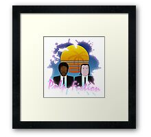80s Inspired Pulp Fiction Framed Print