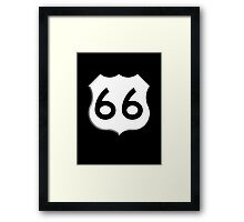 ROUTE 66, Get your Kicks on Route 66, US 66, USA, America, Will Rogers Memorial Highway Framed Print