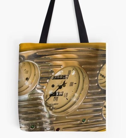 Chrome Auto Dashboard and Gauges Tote Bag