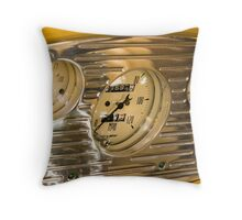 Chrome Auto Dashboard and Gauges Throw Pillow