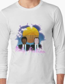 80s Inspired Pulp Fiction Long Sleeve T-Shirt