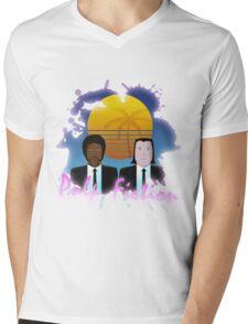 80s Inspired Pulp Fiction Mens V-Neck T-Shirt