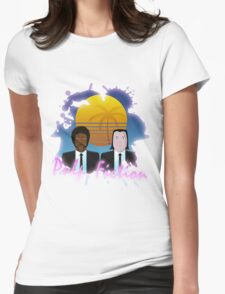 80s Inspired Pulp Fiction Womens Fitted T-Shirt