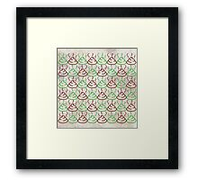 Poop Pattern Framed Print