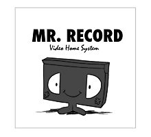 Mr. Record Photographic Print