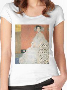 Gustav Klimt - Portrait Of Fritza Riedler 1906 Women's Fitted Scoop T-Shirt