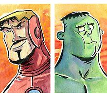 Iron Man and Hulk by tupa