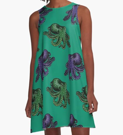 Octopuses A-Line Dress