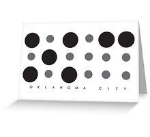 Oklahoma City Braille Logo Greeting Card