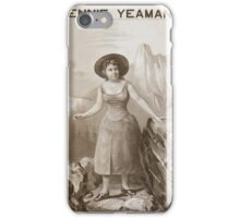 Performing Arts Posters Jennie Yeamans as Mitt 0627 iPhone Case/Skin
