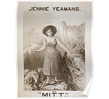 Performing Arts Posters Jennie Yeamans as Mitt 0627 Poster