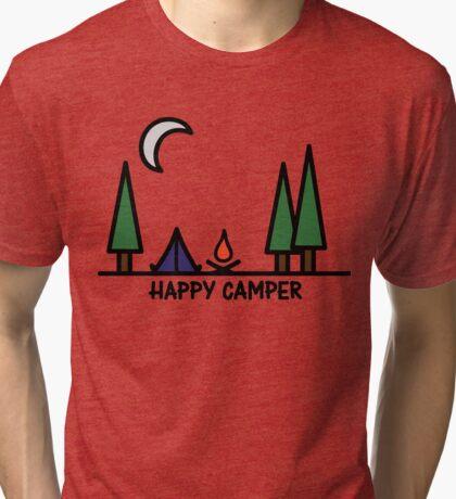 Happy camper Tri-blend T-Shirt