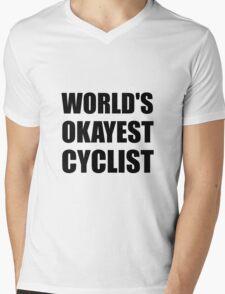 World's Okayest Cyclist Mens V-Neck T-Shirt