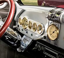 Automobile Dash with Brass, Chrome and Grey paint by Mike Koenig