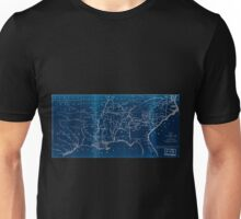 0069 Railroad Maps Map of the southern part of the United States designed to accompany Appletons' R R Inverted Unisex T-Shirt