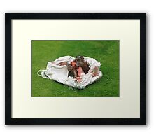 Orangutan baby at play Framed Print