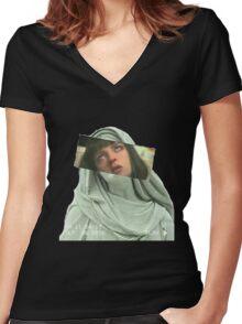 M I A    W A L L A C E Women's Fitted V-Neck T-Shirt