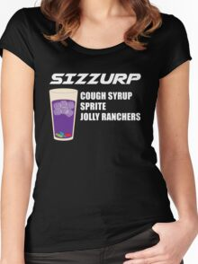 Whats in Sizzurp? Women's Fitted Scoop T-Shirt