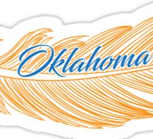 Oklahoma City Feather Sticker