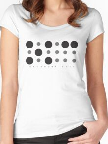 Oklahoma City Braille Logo Women's Fitted Scoop T-Shirt