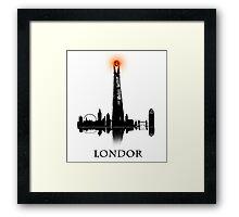 LONDOR - T Shirt Framed Print