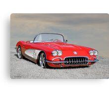 1958 Corvette Roadster I Canvas Print
